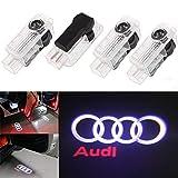 Luce per porta auto Logo Light,4 pezzi di luci per porte auto LED 3D Car Light Entry illuminazione lampada del proiettore di benvenuto Logo Light (A)