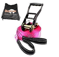 HopOn Slacklines - Hotline (slackline for women) - 49 ft (15m) with a Bonus Carrying Bag (Hotline w/Bag)