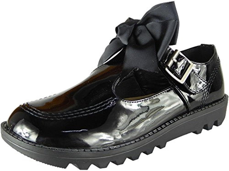 Femmes Bas Talon Pompes Dames  s Plat Plat Plat T-Bar Bureau De Travail Filles École Chaussures Taille 34-41B07G3CVP35Parent b16a1f