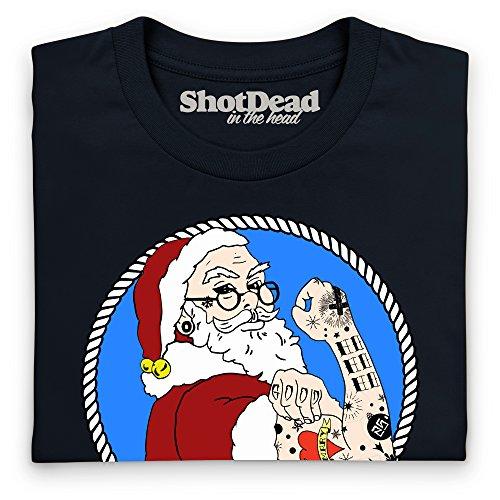 Hipster Santa T-Shirt, Damen Schwarz