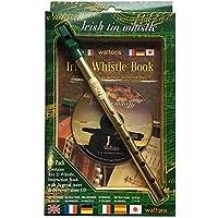 Waltons 08AWAL-1514 Irish Tin Whistle Pack - Silbato irlandés de laton en llave D con CD y libro de instrucciones