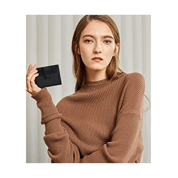 flintronic Porta Carte di Credito e Tasche Pelle, RFID/NFC Blocco Portafoglio Bifold Magico ID Clip 4 spesavip