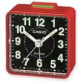 Casio TQ140 - Reloj despertador analógico, color rojo