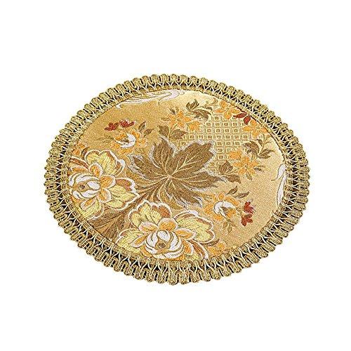 2 Pcs table à dîner Placemats style européen embroidery Placemats rond
