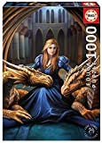 Educa Borras-1000 Fierce Loyalty, Anne Stokes Puzzle, Colore Vario, 17692