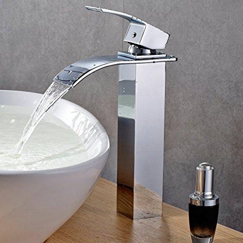 * Auralum® Miscelatore Monocomando per Lavabo Rubinetto Bagno a Cascata Finitura Cromo prezzo
