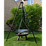 BBQ TRIPOD WITH HANGING GRILL WITH A FREE CARRY/STORAGE BAG 4