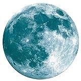 YWLINK 30cm Etiqueta Engomada De La Pared Fluorescente De La Luna Grande 3D Resplandor Desprendible En La Etiqueta Engomada...
