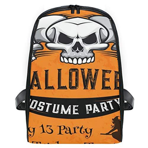 FOURFOOL Halloween-Feiertags-festlicher Plakat-Kostüm-Horror,Laptop Rucksack für Männer Schulrucksack Multifunktionsrucksack Mini Tagesrucksack für Schule Wandern Reisen Camping
