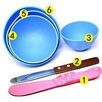 Bonew - 4 cuencos de plástico dental para mezclar alginato y modelar, incluye 2 espátulas para mezclar