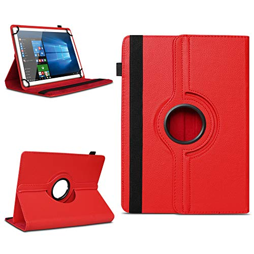na-commerce Telekom Puls Tablet Hülle Tasche Schutzhülle Cover 360° Drehbar Case Schutz Etui, Farben:Rot