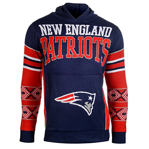 Forever Collectibles New England Patriots Big Logo Hooded Sweater Extra Groß Hockey Logo Sweatshirt