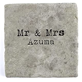 Mr & Mrs Azuma - Single Marble Tile Drink Coaster