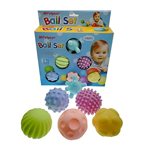 Asien Kinder Hand greifen den Ball weichen Baby Badespielzeug Frühe Lehre 6 Bälle