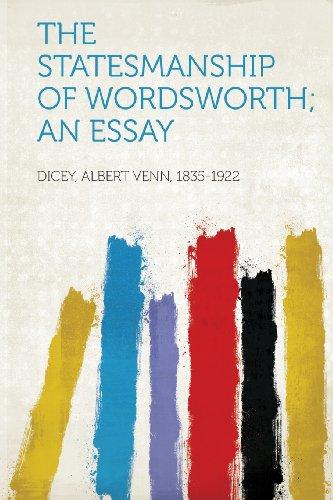 The Statesmanship of Wordsworth; an Essay