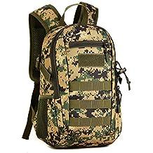 12L Militar Táctica Mochila Nylon estudiante bolsa de la escuela impermeable Asalto MOLLE Paquete Caza Camping Trekking bolsa