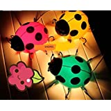 SHOPEE BRANDED Beetle Wall Sensor Lamp Cartoon Ladybug Lamp Children Room Lights Decorative Lamps Bed Lamp Night Light (color Assorted)