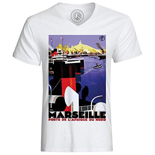 Fabulous T-Shirt Marseille Porte Afrique du Nord Vintage France Vieux Port Bateau Boat