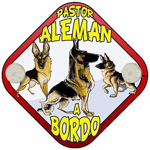 Placa bebé a bordo Pastor Alemán a bordo perro a bordo