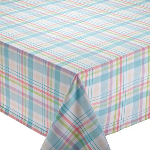rn Korb Plaid Tischdecke rund weiß ()