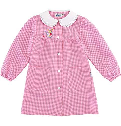 Siggi grembiule bimba scuola bambina asilo scozzese rosa tg 45 e tg 70