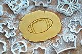 Football Ausstechform 8cm Präge-Ausstecher Ball American Football 3D Keksausstecher Backen Plätzchen Cookie Cutter Fondant