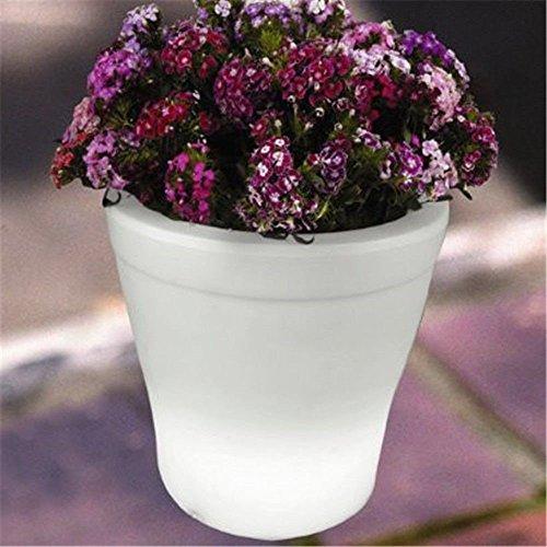4PCS LED Leuchtmittel Rundes Tablett Blumentopf Farben Wechselhafte Luminous Flash Blumenkübel Übertopf Indoor Pflanztopf - 9