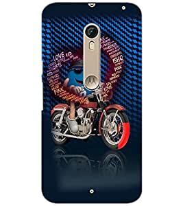 PrintDhaba Typographic Heart D-2531 Back Case Cover for MOTOROLA MOTO X STYLE (Multi-Coloured)
