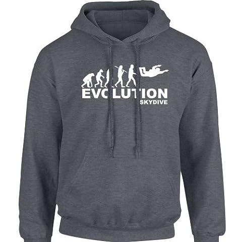 iClobber Sky Diving Evolution Men's Hoodie Hoody Dive - Medium Adult - Graphite Grey