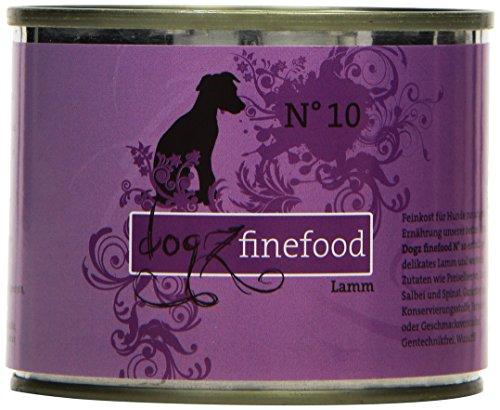 hundeinfo24.de Dogz finefood Hundefutter No.10 Lamm 200g, 6er Pack (6 x 200 g)