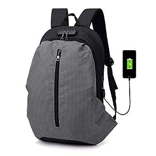 HOQTUM Anti-Diebstahl-Passwort Lock Tasche Multifunktions USB aufladbaren Kopfhörer Loch Zoll Laptop-Rucksack Wasserdicht Business TR Avel Tasche