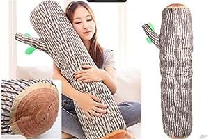 Coussin traversin Pillow souche d'arbre bois Log conception 94 cm x 20 cm