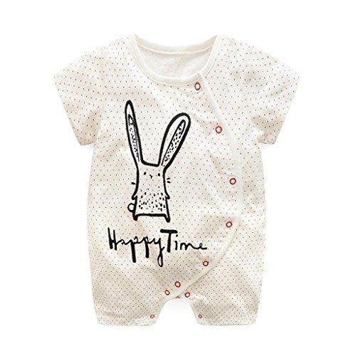 Baby Strampler Schlafstrampler Schlafanzug Einteiler kurzarm Spielanzug Baby Outfits für Mädchen Jungen (0 - 18 Monate) Vine