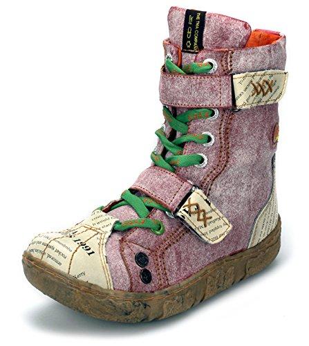 TMA Damen Stiefeletten Winter Boots Gefüttert Schuhe 7087N Rot/Schattiert