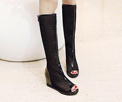 Botas De Verano Misssasa Para Mujer Fashion Black