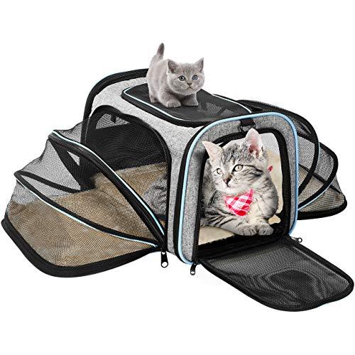 OMORC Bolsa de Transporte Plegable para Perros y Gatos,...