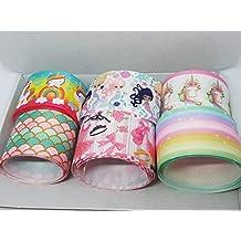 Rainbow Creations Caja de selección de Cinta para Hacer Lazo de Pelo, grogrén, 35