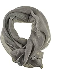 Women's / Ladies' Fashion Glitter Scarf With Six Colours (Silver)
