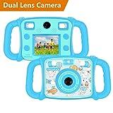 DROGRACE bambini camera Dual Lens bambini Digital Video camera 1080p FHD selfie Duo fotocamera con zoom 4x, flash LED, LCD 5,1cm per bambine, Birthday Holiday Gift