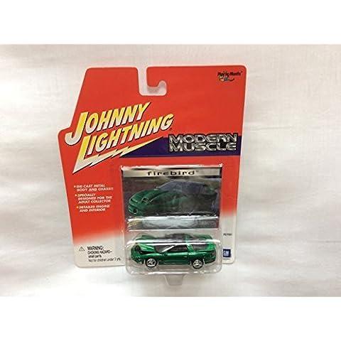 Johnny Lightning Modern Muscle 2000 Pontiac Firebird Green/Black Roof by Playing Mantis - 2000 Pontiac Firebird