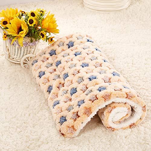 Smoro Hundedecke Fleece Haustierdecke für Hunde Katzen, Bett für Haustier Matte Weiches Kissen warme Decke Baumwolle -