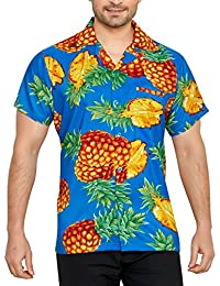 ea41363c200e7 CLUB CUBANA Camisa Hawaiana Florar Casual Manga Corta Ajuste Regular para  Hombre