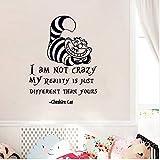 Fqz93in Alice Au Pays des Merveilles Sticker Mural Citations De Chat Cheshire Je Ne...