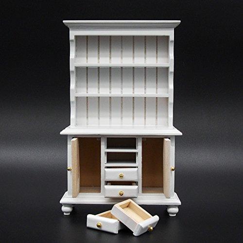 Odoria 1/12 Miniatura Vintage Alacena Blanco con Cajones Muebles para Casa de...