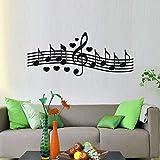 Wandtattoo Dekorative Musiknoten Wanddekoration Komponiert Ein Liebeslied Schlafzimmer Wandaufkleber Abziehbilder 72cm X 29cm