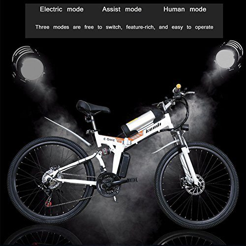 51D7jYskLOL. SS500  - GTYW, Electric, Folding, Bicycle, Mountain, Adult Moped, Mountain Electric Car, 26-inch Smart Electric Car, 36V 250W, Rear Engine, 110km Long Battery Life, Lithium-ion Battery