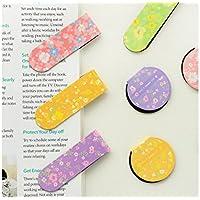 Huyizhi Creativo Marcadores florales creativos útiles de oficina de la escuela Journal Bookmark Stationery (color aleatorio) para sus suministros officce