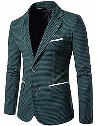 Homebaby Uomo Blazer Classic Fascino Blazer Due Pulsanti Uomo Giacca da  Abito Elegante Fiesta Maniche Lunghe Colletto Cappotto… 72167de2d7a9
