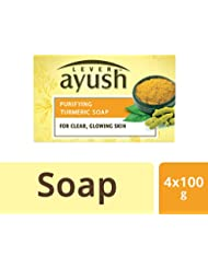 Lever Ayush Purifying Turmeric Soap,100g (Pack of 4)
