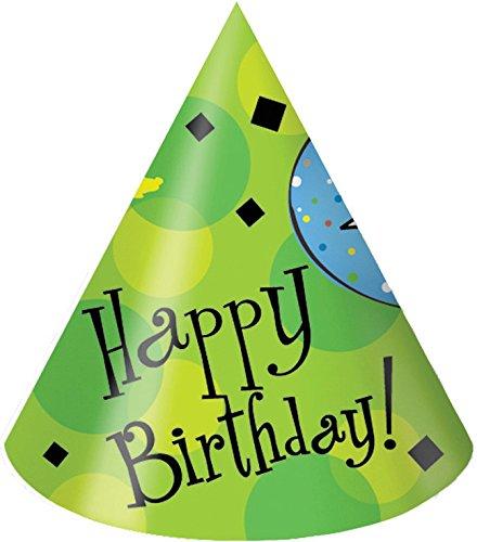 Creative Converting 8Stück, Ballon-partyhüte, Für Erwachsene, Mehrfarbig, Papier, Cake Celebration, Adult Size